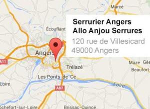 Carte serrurier Angers